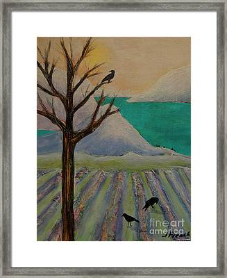 Winter Crows Framed Print