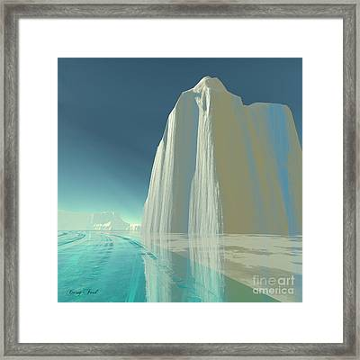 Winter Crystal Framed Print