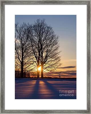 Winter, Crystal Spring Farm, Brunswick, Maine -78592 Framed Print