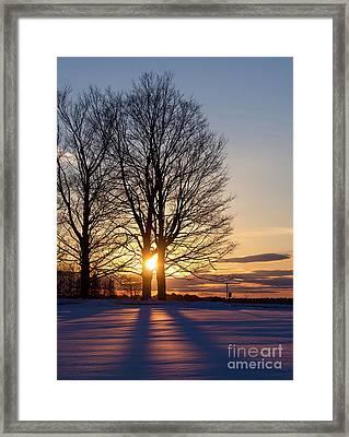 Winter, Crystal Spring Farm, Brunswick, Maine -78592 Framed Print