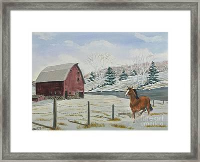 Winter Dance Framed Print