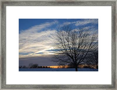 Framed Print featuring the photograph Winter Dawn by Steven Richman