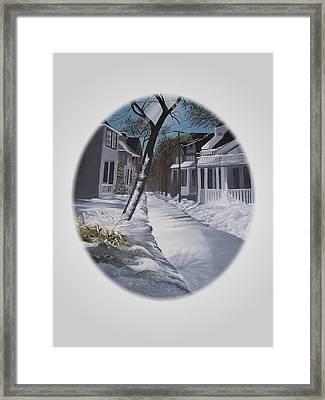 Winter Day Framed Print by Kathleen Romana