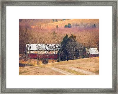Winter Day On A Tennessee Farm Framed Print