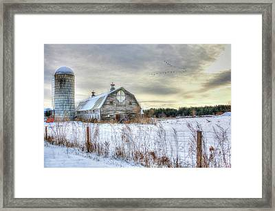 Framed Print featuring the digital art Winter Days In Vermont by Sharon Batdorf