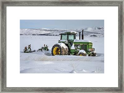 Winter Deere Framed Print