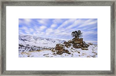 Winter Desert Framed Print