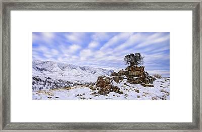 Winter Desert Framed Print by Chad Dutson