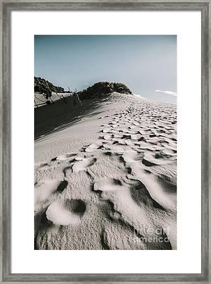 Winter Desert Landscape Framed Print