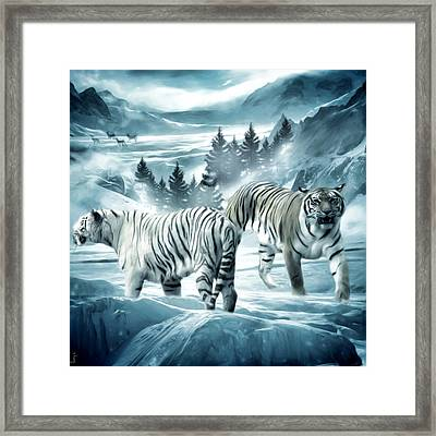 Winter Deuces Framed Print by Lourry Legarde