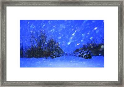 Winter Diamonds Framed Print by Julie Lueders