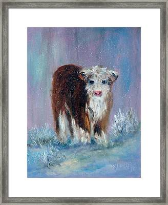Winter Doggie Framed Print