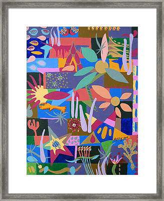 Winter Dream Of Flowers Framed Print by Molly Williams