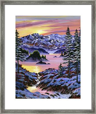 Winter Dreams Framed Print by David Lloyd Glover