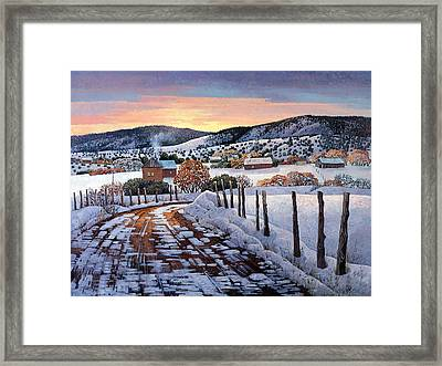 Winter Dreams Framed Print by Donna Clair