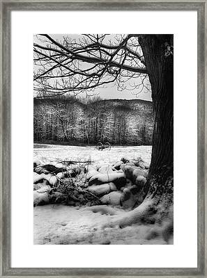 Framed Print featuring the photograph Winter Dreary by Bill Wakeley
