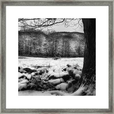 Framed Print featuring the photograph Winter Dreary Square by Bill Wakeley