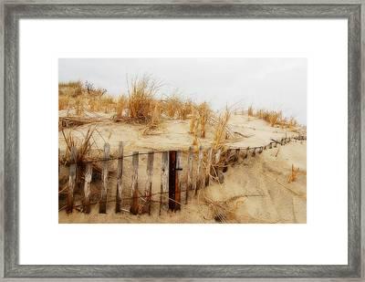 Winter Dune - Jersey Shore Framed Print