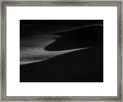 Winter Dunes Framed Print by Stan Wojtaszek
