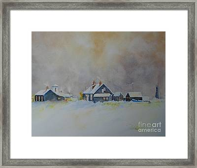 Winter Dungeness Framed Print