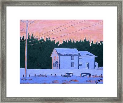 Winter Dusk Framed Print by Laurie Breton