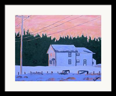 Maine Farmhouse Framed Prints