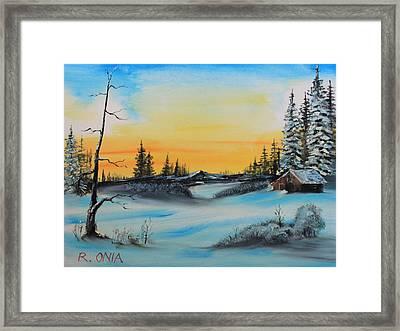 Winter Dusk Framed Print