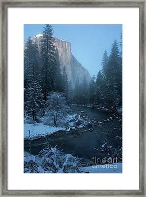 Winter El Cap  Framed Print
