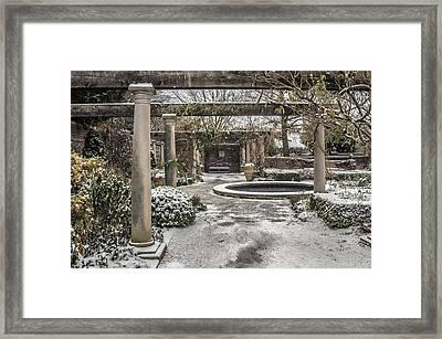 Winter English Walled Garden Framed Print