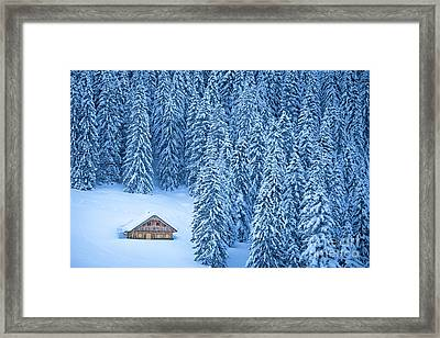 Winter Escape Framed Print by JR Photography