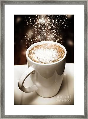 Winter Espresso Coffee Framed Print