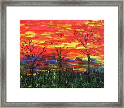 Winter Evening Framed Print by Erik Tanghe
