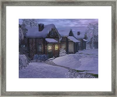 Winter Evening Framed Print