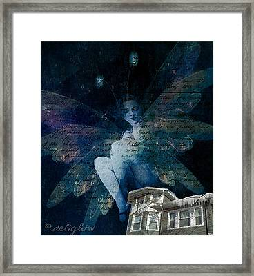 Framed Print featuring the digital art Winter Fairy by Delight Worthyn