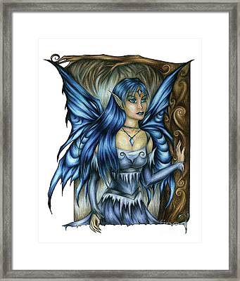 Winter Fairy Drawing Framed Print