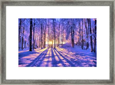Winter Fairy Tale Framed Print