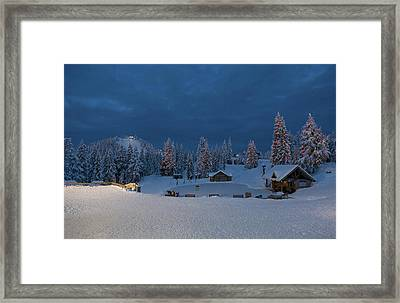 Winter Fairy Tale At Grouse Mountain Framed Print