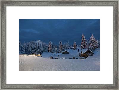 Winter Fairy Tale At Grouse Mountain Framed Print by Eti Reid