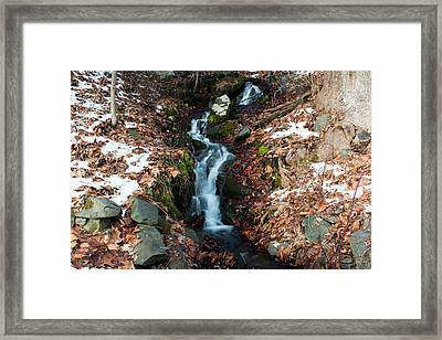 Winter Falls At Franny Reese Framed Print by Jeff Severson