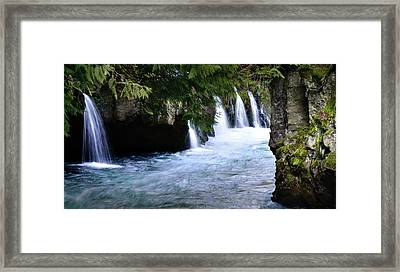 Winter Falls On The White Salmon Framed Print by Kevin Felts