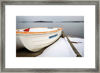 Winter, Falmouth, Maine  -18674 Framed Print by John Bald