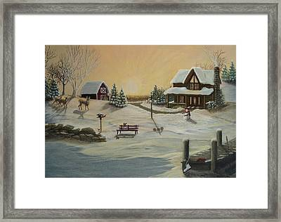 Winter Farm 1 Framed Print