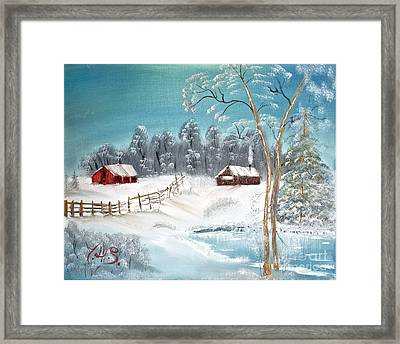 Winter Farm Framed Print