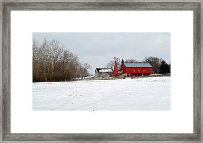 Winter Farm Framed Print by Robert Clayton