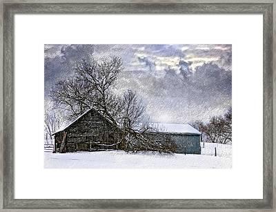Winter Farm Framed Print by Steve Harrington