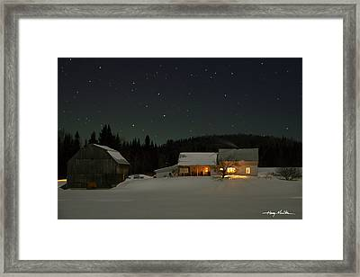 Winter Farmhouse Framed Print