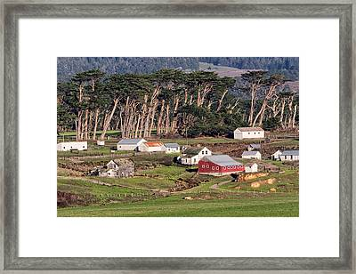 Winter Farmland In Sunny California Framed Print by Kathleen Bishop