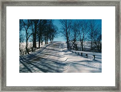 Winter Farmroads Framed Print