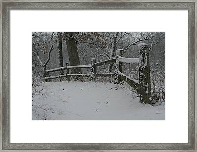 Winter Fence Trail H Framed Print