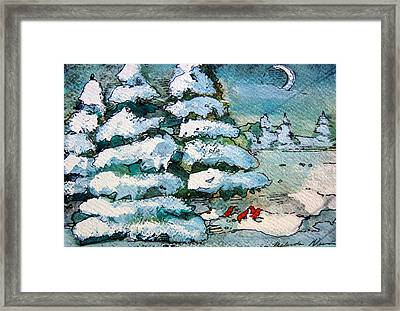 Winter Fest Framed Print by Mindy Newman